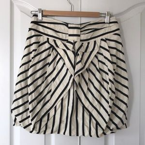 Eva Franco striped tulip skirt